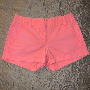"Vintage 3"" Neon Pink J.Crew Chino Shorts"